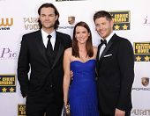 LOS ANGELES - JAN 16:  Jared Padalecki, Jensen Ackles & Danneel Ackles arrives to the Critics' Choic