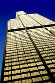 CHICAGO, ILLINOIS, USA - JULY 26 2013: The Willis Tower in the Loop area, west facade