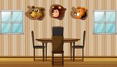picture of stuffed animals  - Illustration of the stuffed animal decors inside the house - JPG