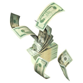 foto of save money  - 3D Money Concept with clipping path - JPG