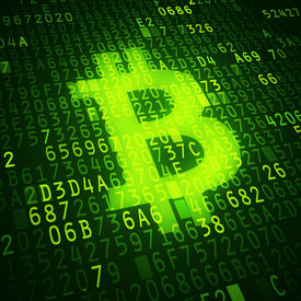 pic of bit coin  - Bit coin symbol as virtual currency symbol - JPG