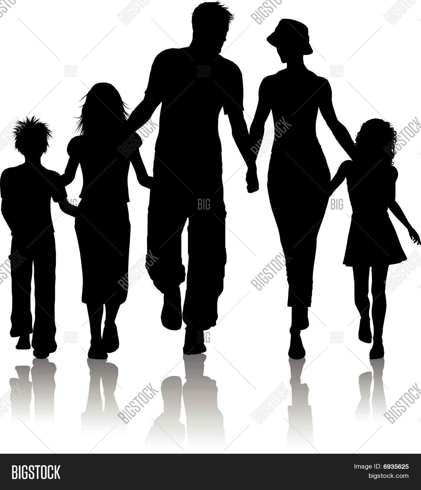family silhouette vector photo bigstock