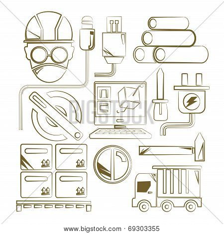 engineering and tool icons