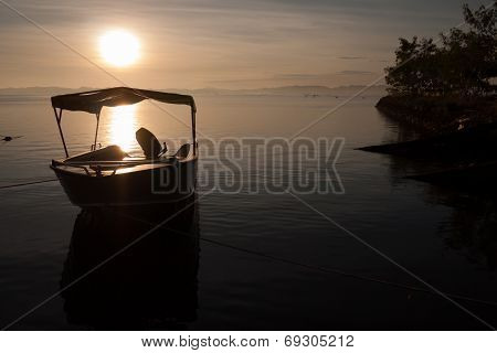 Anchorage Speed Boat Under Sun Rise