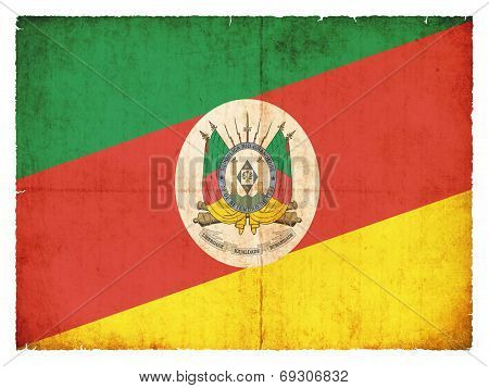 Grunge Flag Of Rio Grande Do Sul (brazil)