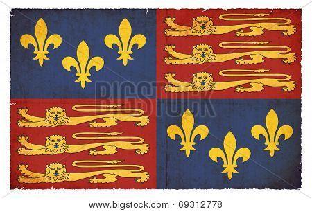 Historic Grunge Flag Of England (tudor, 1406-1603)