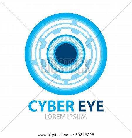 Cyber Eye Symbol Icon