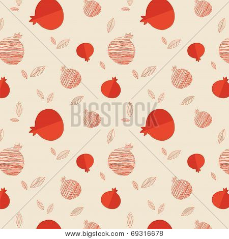 Pomegranate seamless pattern for Rosh hashana