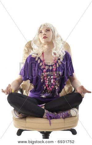 Meditating Blonde