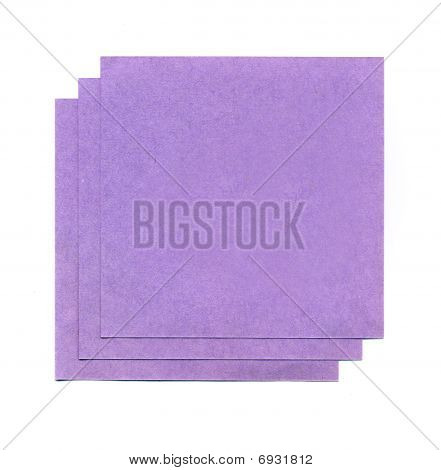 Purple Sheets Of Paper