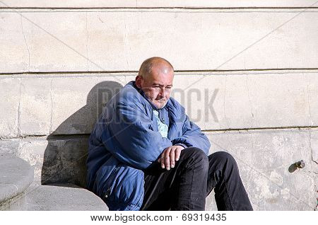 Homeless Man In Prague