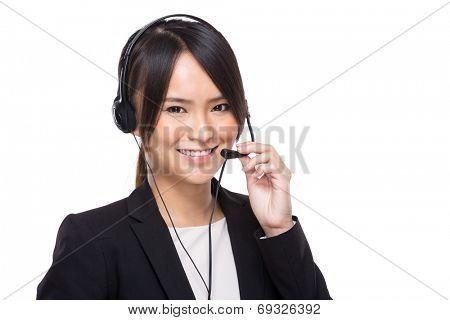 Female customer services operator