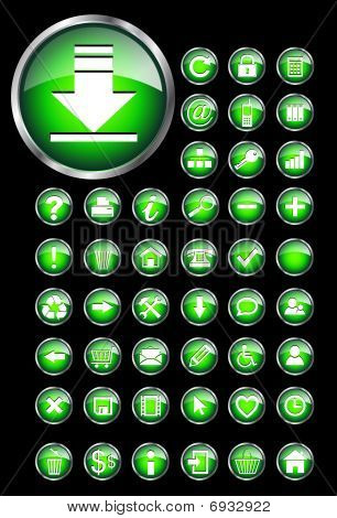 Web icons, buttons set