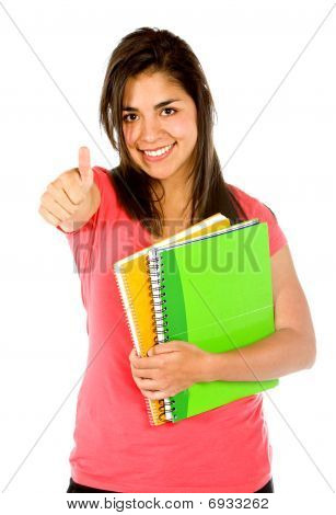Student With Thumbs Up
