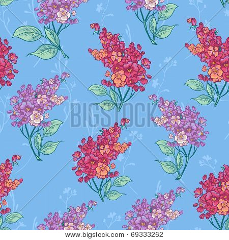 Seamless background with bouquets of wildflowers.