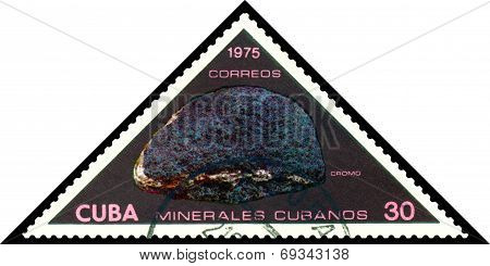 Vintage Postage Stamp. Chromium.