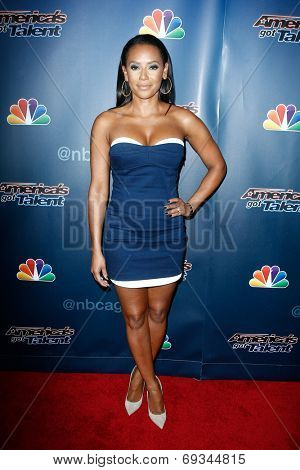 NEW YORK-JUL 30: Singer Mel B attends the 'America's Got Talent' post show red carpet at Radio City Music Hall on July 30, 2014 in New York City.