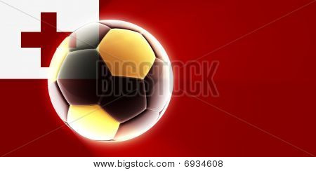 Bandera de Tonga fútbol