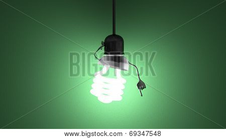 Spiral Light Bulb Character In Socket, Moment Of Insight