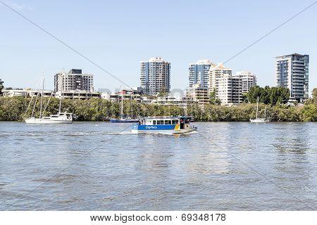 Brisbane CityFerry on the Brisbane River