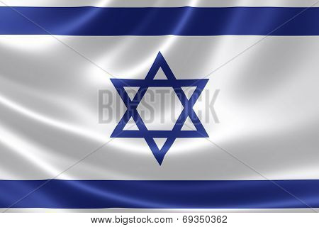 Close Up Of Israel's Flag