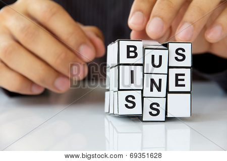 concept image of rubik's cube business