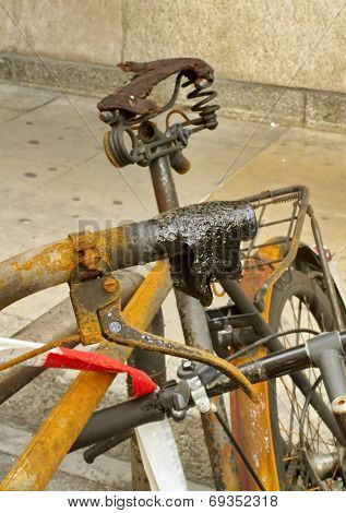 Burnt bicycle