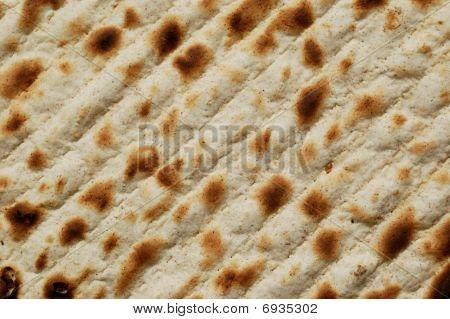 close up of jewish passover bread