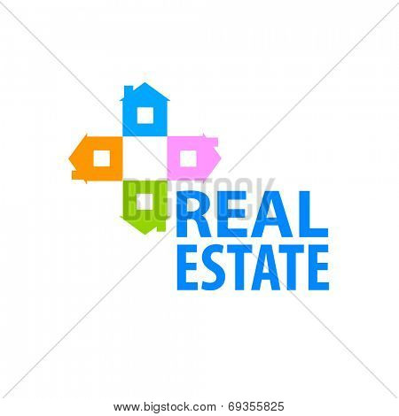 Template for the sign - real estate - sale, lease. Vector design concept.
