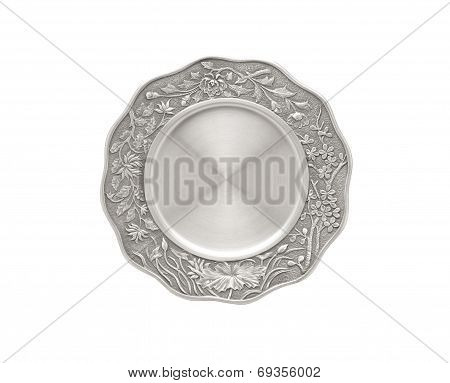Luxury pewter dish