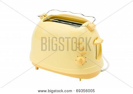 cute yellow bread toaster