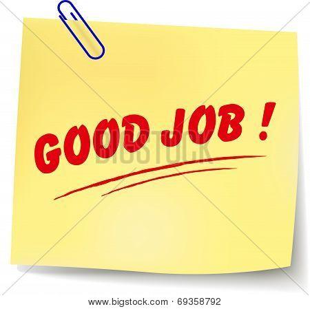 Vector Good Job Message