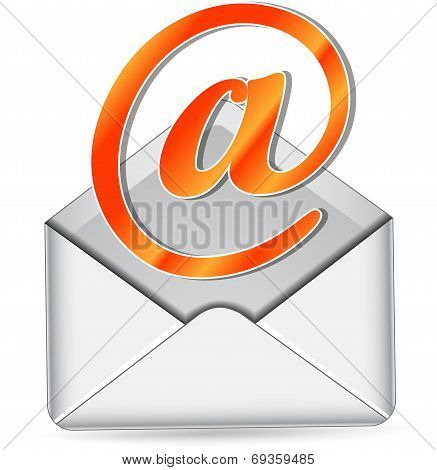 Vector Orange Mail Icon