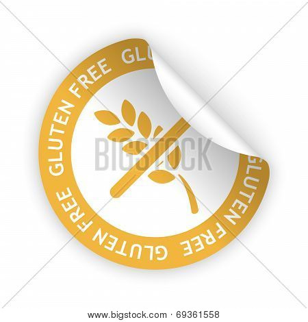 Gluten Free Bent Sticker