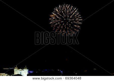 San Vito Fireworks In Ischia Island