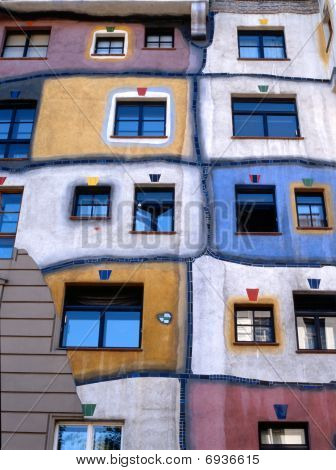 Hundertwasser Haus In Vienna,austria