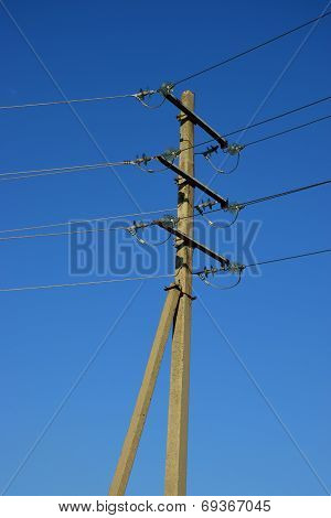 An old-fashioned electric pylon