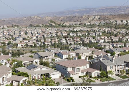 New suburban community in Ventura County's Simi Valley near Los Angeles, California.