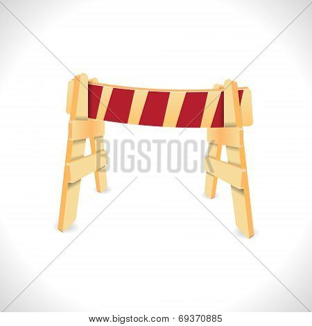 Traffic Barricade. Vector