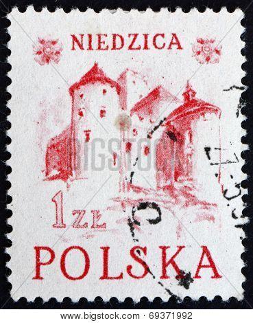 Postage Stamp Poland 1952 Niedzica Castle