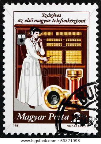 Postage Stamp Hungary 1981 Telephone Exchange System, Centenary