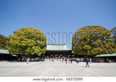 TOKYO JAPAN - APRIL 15: Meiji-jingu in Tokyo Japan on April 15 2014.