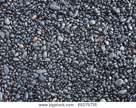 Black Rock Pebbles Mineral Stones Background
