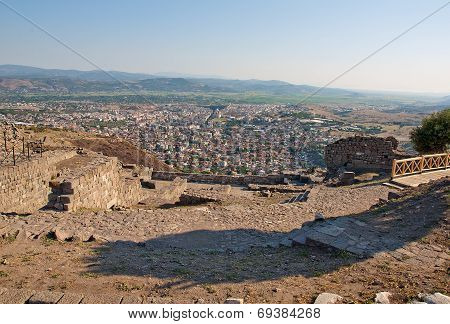 View from ancient greek city of Pergamon