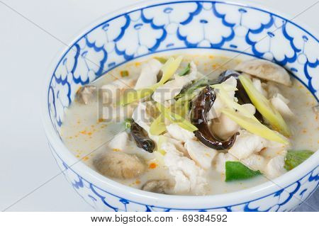 Spicy Coconut Soup With Chicken. Thai Call