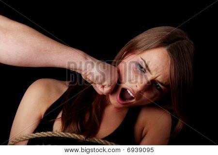 Emotional Portrait Of Abused Woman