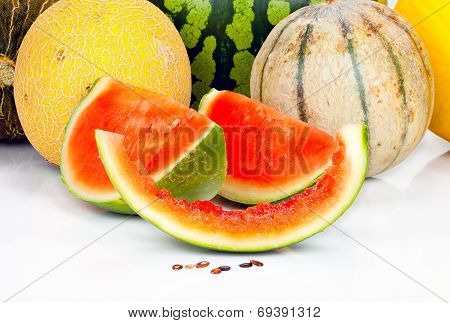 Various Melons And Pieces