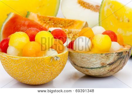Melon As A Bowl For Melon Balls