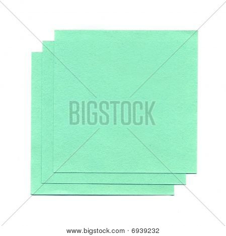 Green Sheets Of Paper