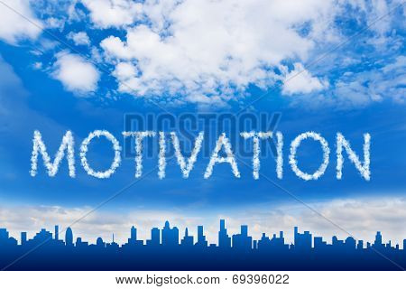 Motivation Text On Cloud